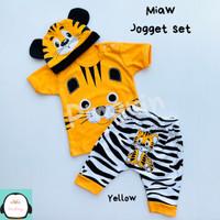 Setelan Anak Bayi Laki-Laki Baju Kaos Lengan Pendek Karakter 1 Tahun - Abu-abu
