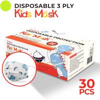 Indoshare Masker Kesehatan Anak Earloop 3ply Motif Dino 1box Isi 30pcs