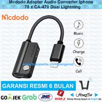 Mcdodo Adapter Audio Converter Iphone 7 8 X CA-470 Dual Lightning