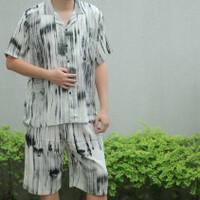 BEST SELLER Piyama Rayon Pria / Piyama Pria celana pendek / Baju tidur