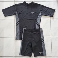 Setelan Baju Renang Dewasa Speedo Unisex Lengan Pendek Celana Pendek
