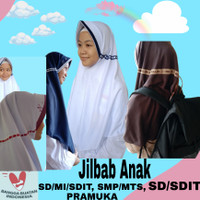 kerudung sekolah SD SMP Jilbab Anak Sekolah Putih Polos PRAMUKA