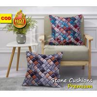 Cover Sarung Cushion Bantal Sofa Kursi Tamu Motif Printing Brown 40x40