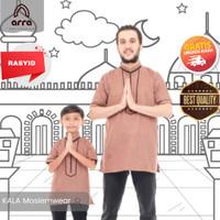 Baju Koko Couple Ayah Anak Lengan Pendek Kurta Turki Pakistan Rasyid