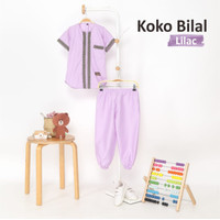 Baju Koko Anak Elegan Katun Toyobo Adem Dan Nyaman - Lilac, S