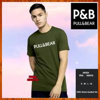 Baju Kaos Pull and Bear Non Original Pria Wanita Army Size S M L XL