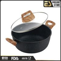 ES Panci granite tidak mudah lengket panci kramik panci multifungsi - Varian 22 cm