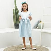 Dress Anak Perempuan TinyTales Lily Usia 6 7 8 9 10 Tahun Biru - M