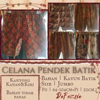 Celana Pendek Batik Wanita Jumbo
