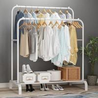 Gantungan Baju Besi Stand Hanger Pakaian Gantungan Baju Berdiri - Putih