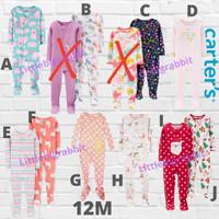 Sleepsuit Carters Carter Carter's - Baju Tidur Anak Cewek Branded 12M