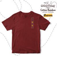 Kaos Polos Anak Cotton Bamboo Maroon