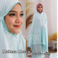 Mukena Dewasa Mecca Bahan Satin Silk 3 in 1 Resleting Depan ORI RAISA - Maroon
