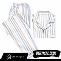 Baju Tidur Cowok/Pria/Laki-laki Piyama Pajamas Katun Motif VERTICAL BL