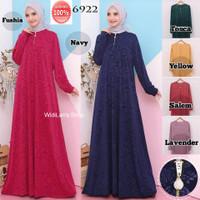 Baju Gamis Terbaru Dress Muslim Gamis Jersey Embos Gamis Busui 6922