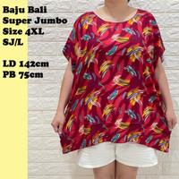 Baju Bali motif Daun Super Jumbo XXXXL SJ/L Rayon Premium