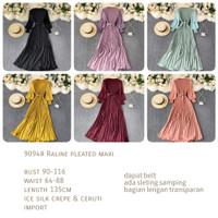 Raline Pleated Maxi Dress Import TM 9094