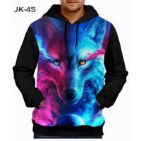 Jaket Wolf 3D Fullprinting Jaket Hoodie Sweater Anak #JK-45