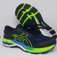 Sepatu Running Asics Gel Kayano 26 Black Green Sepatu Volly