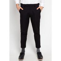 BlueButton Smart Ankle Pants Slim Fit Celana Formal Casual Hitam