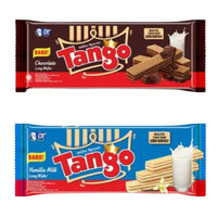 biskuit Wafer Tango Vanilla dan coklat 130 g - Vanila