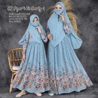 baju couple pasangan muslim terbaru gamis syari set ibu anak kalisa