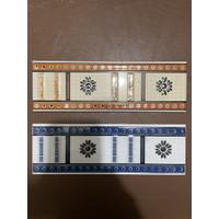 List Keramik Dinding 8x25 Lis Plint Lustro Motif Bunga Matahari