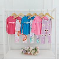 Dinda Set 0-4 Thn - Baju Setelan Anak Bayi Perempuan Bahan Kaos Katun