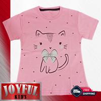 Baju / Kaos Atasan Anak Perempuan Cute Cat 1 - 10 Tahun