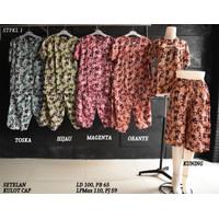 Setelan Kulot Baby Doll Daster Baju Pakaian Tidur Batik Pekalongan 1