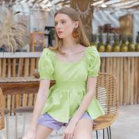 Chocochips - Lidwina Top Green/Atasan Wanita