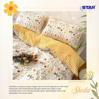 sprei bedcover katun premium size 90-200 motif sheila - 90x200, Tinggi 20cm