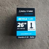 Ban Dalam Sepeda 26 x 1.00 / 1.50 / 26x1.00/1.50 Deli Pentil Motor