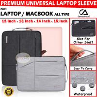 CANVAS ARTISAN Sleeve Tas Laptop Macbook Pro Air Asus 12 13 14 15 Inch - 12 Inch, Hitam