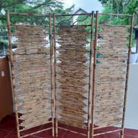 Pembatas Ruangan / Sketsel / Partisi Bambu Cendani
