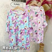Kaos Oversize Wanita Baju Jumbo Tshirt Cewek Atasan Lucu Oblong Santai
