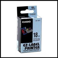 EZ-LABEL PRINTER XR-18X1 18mm black ink clear