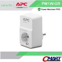 APC colokan listrik steker 1 port Surge Protector Arrester APC-PM1W-GR