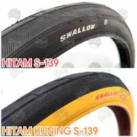 Ban Luar Sepeda 20 x 1 3/8 ETRTO 37-451 HITAM. SWALLOW DELI TIRE