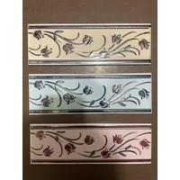 List Keramik Dinding 8x25 Lis Plint Lustro Motif Bunga