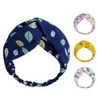 Bandana Headband Bando simpul pita motif daun ( Premium quality) - Random