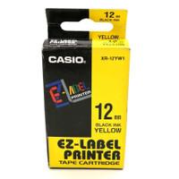EZ-LABEL PRINTER XR-12YW1 12MM BLACK INK YELLOW