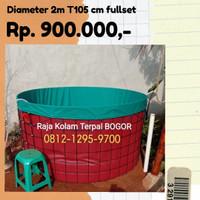 kolam terpal bundar diameter 2m Full set
