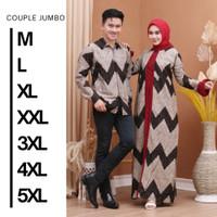 Baju Batik Couple/Batik Couple keluarga/Batik Couple terbaru - Zig Zag - Kemeja, M