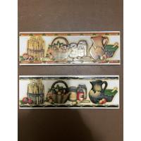 List Keramik Dinding 8x25 Lis Plint Lustro Motif Buah