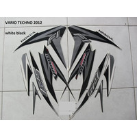 Striping Lis Stiker Motor Honda Vario Techno 125 F1 2012 Putih Silver