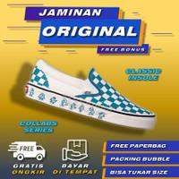 Vans Slip On Checkerboard Ice Blue x Kakao Friends Sepatu Vans Slip On - 36