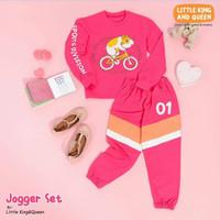 Baju Setelan Jogger Kaos Olah Raga Anak Sporty Little King and Queen
