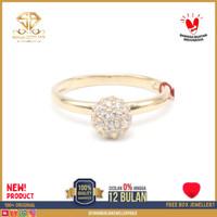 cincin emas kuning wanita perhiasan emas asli kadar 375 CMM131 R12