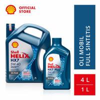 Oli Mesin Mobil Shell Helix HX7 5W-40 (4L + 1L) Original